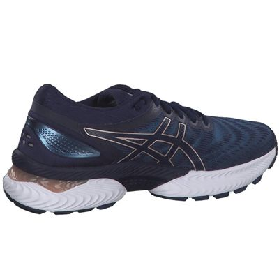 Asics Gel-Nimbus 22 Ladies Running Shoes - Navy - Angled