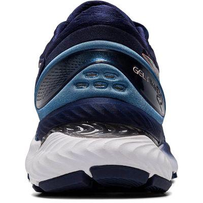 Asics Gel-Nimbus 22 Ladies Running Shoes - Navy - Back