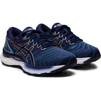 Asics Gel-Nimbus 22 Ladies Running Shoes - Navy - Front
