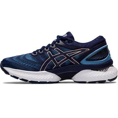 Asics Gel-Nimbus 22 Ladies Running Shoes - Navy - Side