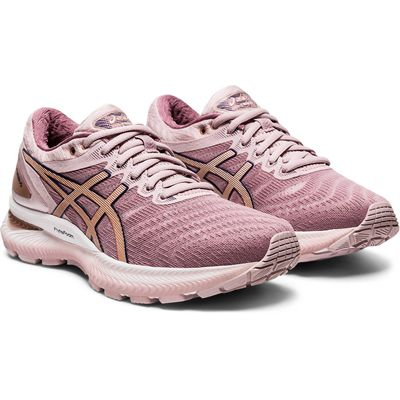 Asics Gel-Nimbus 22 Ladies Running Shoes - Pink - Front