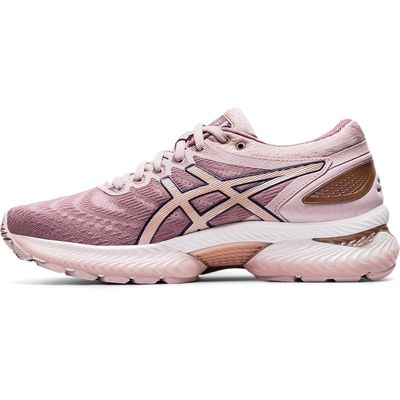 Asics Gel-Nimbus 22 Ladies Running Shoes - Pink - Side