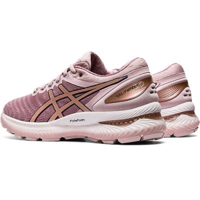 Asics Gel-Nimbus 22 Ladies Running Shoes - Pink - Slant