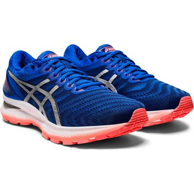 Asics Gel-Nimbus 22 Mens Running Shoes - Blue - Angle