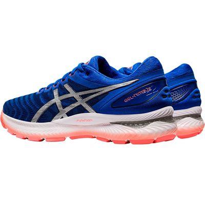 Asics Gel-Nimbus 22 Mens Running Shoes - Blue - Slant