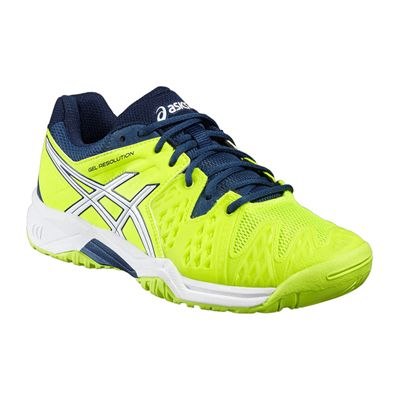 Asics Gel-Resolution 6 GS Junior Tennis Shoes-Angled