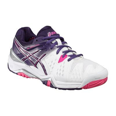 Asics Gel-Resolution 6 Ladies Tennis Shoes-Angled