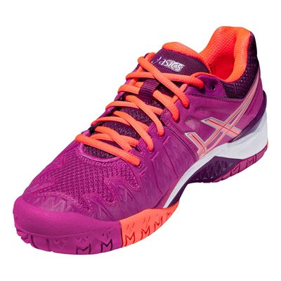 Asics Gel-Resolution 6 Ladies Tennis Shoes SS16 Angle View