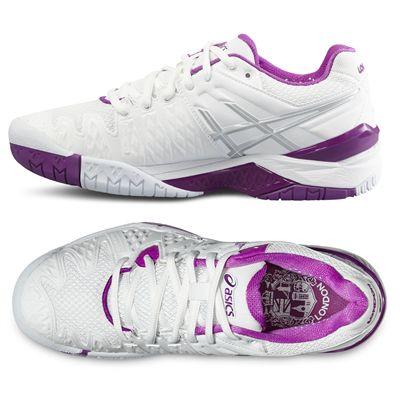 Asics Gel-Resolution 6 LE London Ladies Tennis Shoes - Alt.View