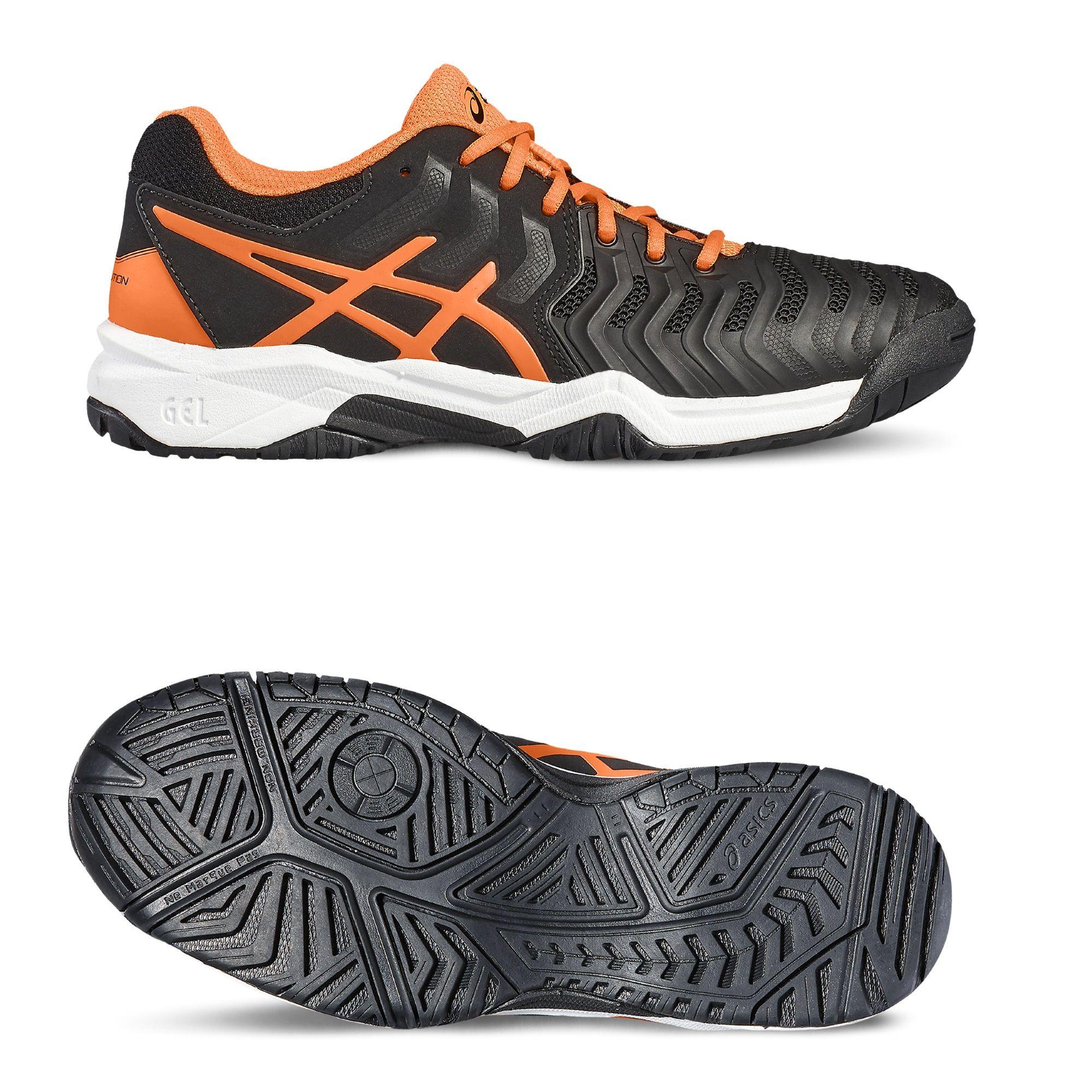 asics gel resolution 7 gs boys tennis shoes