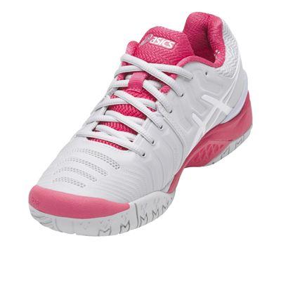 Asics Gel-Resolution 7 Ladies Tennis Shoes-angled