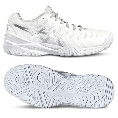 Asics Gel-Resolution 7 Ladies Tennis Shoes - White