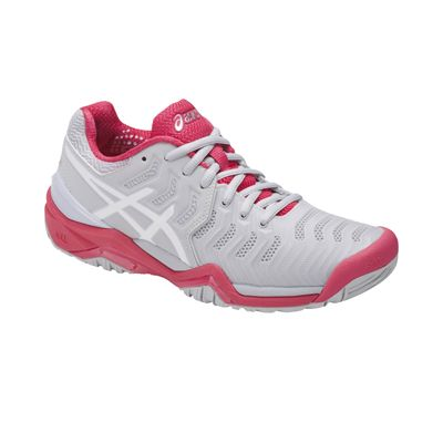 Asics Gel-Resolution 7 Ladies Tennis Shoes AW17 Pink - Angled2