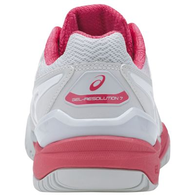 Asics Gel-Resolution 7 Ladies Tennis Shoes AW17 Pink - Back