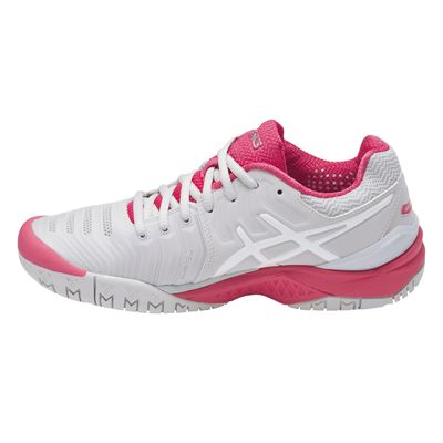 Asics Gel-Resolution 7 Ladies Tennis Shoes AW17 Pink - Side