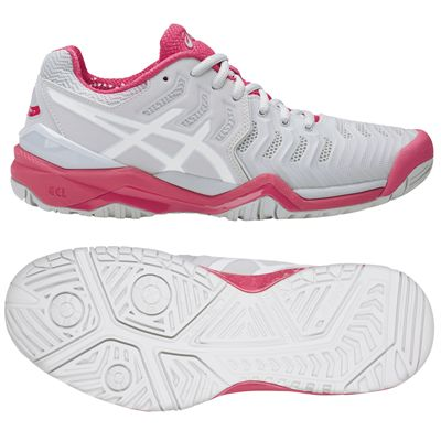Asics Gel-Resolution 7 Ladies Tennis Shoes AW17 Pink