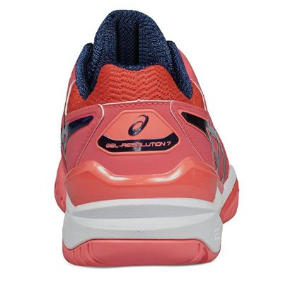 Asics Gel-Resolution 7 Ladies Tennis Shoes - Back Image