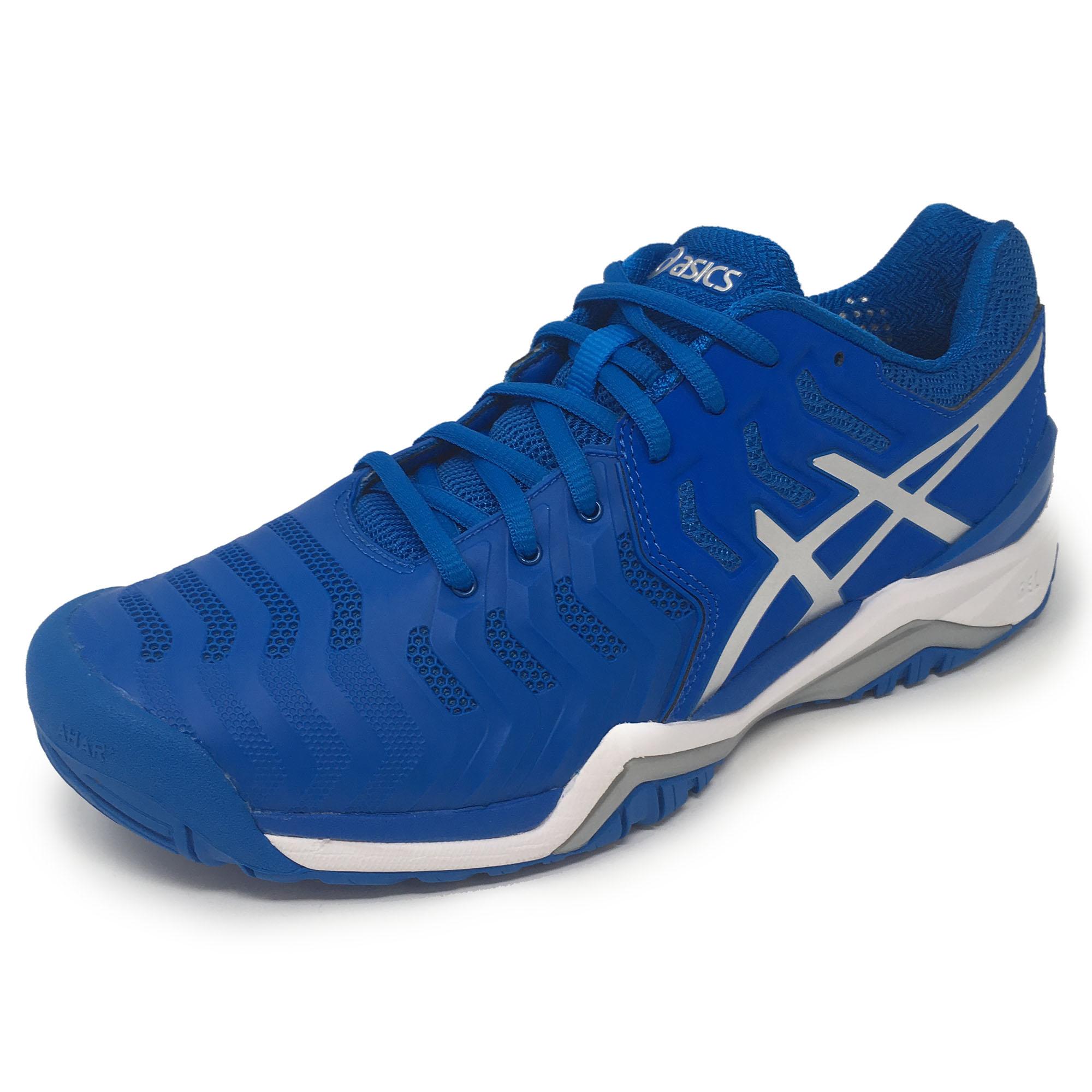 Asics GelResolution 7 Mens Tennis Shoes  Blue 10.5 UK