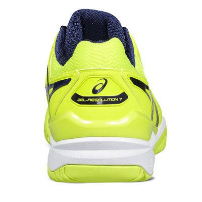 Asics Gel-Resolution 7 Mens Tennis Shoes - Yellow Alt.View - Back