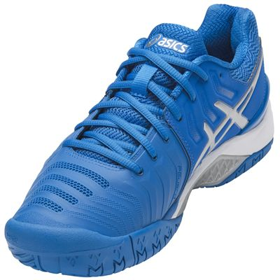 Asics Gel-Resolution 7 Mens Tennis Shoes AW17 - Blue - Angled