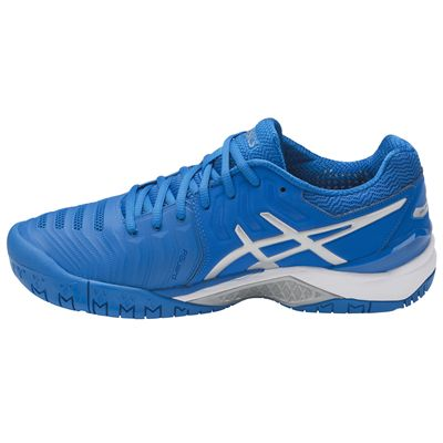Asics Gel-Resolution 7 Mens Tennis Shoes AW17 - Blue - Side