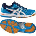 Asics Gel-Rocket 7 Ladies Indoor Court Shoes-Blue-White-Orange