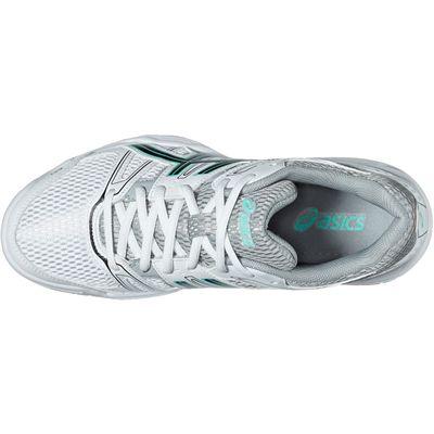 Asics Gel-Rocket 7 Ladies Indoor Court Shoes-White-Black-Grey-Top