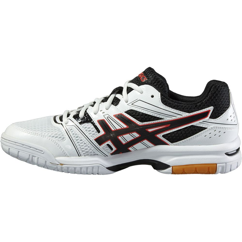 Red And White Asics Running Shoes