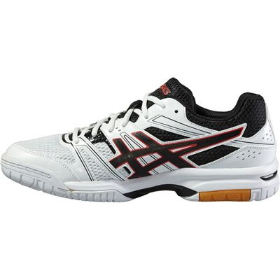 Asics Gel-Rocket 7 Mens Indoor Court Shoes-White-Black-Red-Side