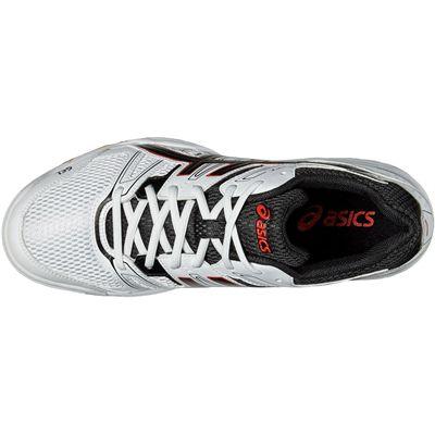 Asics Gel-Rocket 7 Mens Indoor Court Shoes-White-Black-Red-Top