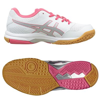 Asics Gel-Rocket 8 Ladies Indoor Court Shoes - White - Main