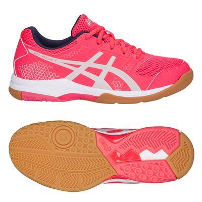 Asics Gel-Rocket 8 Ladies Indoor Court Shoes AW18 - Pink