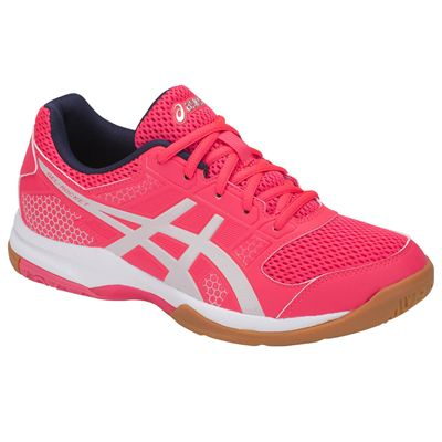 Asics Gel-Rocket 8 Ladies Indoor Court Shoes AW18 - Pink/Angled