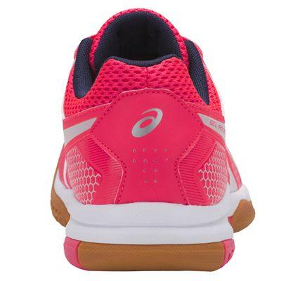 Asics Gel-Rocket 8 Ladies Indoor Court Shoes AW18 - Pink/Back