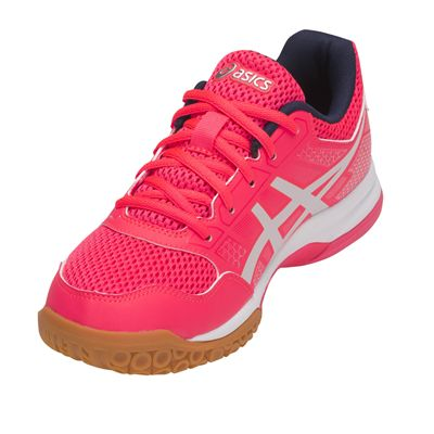 Asics Gel-Rocket 8 Ladies Indoor Court Shoes AW18 - Pink/Side2