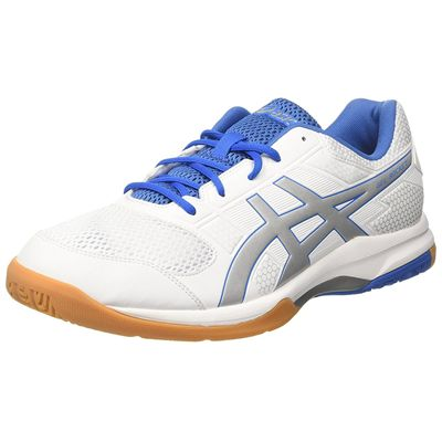 Asics Gel-Rocket 8 Mens Indoor Court Shoes - White - Side