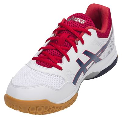 Asics Gel-Rocket 8 Mens Indoor Court Shoes AW18 - Red - Angled2