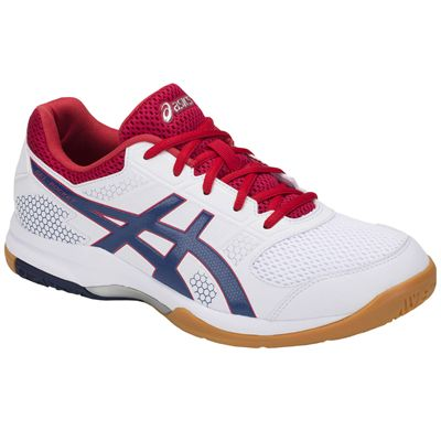 Asics Gel-Rocket 8 Mens Indoor Court Shoes AW18 - Red - Angled