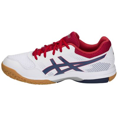 Asics Gel-Rocket 8 Mens Indoor Court Shoes AW18 - Red - Side