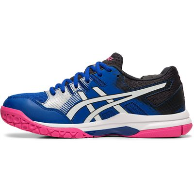 Asics Gel-Rocket 9 Ladies Indoor Court Shoes - Blue - Side