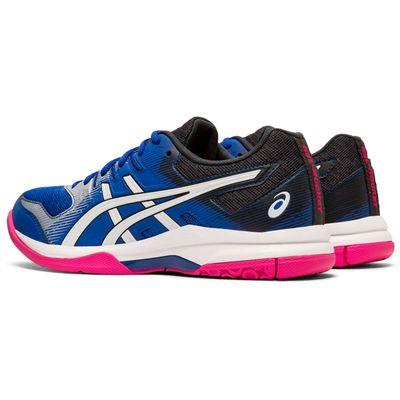 Asics Gel-Rocket 9 Ladies Indoor Court Shoes - Blue - Slant