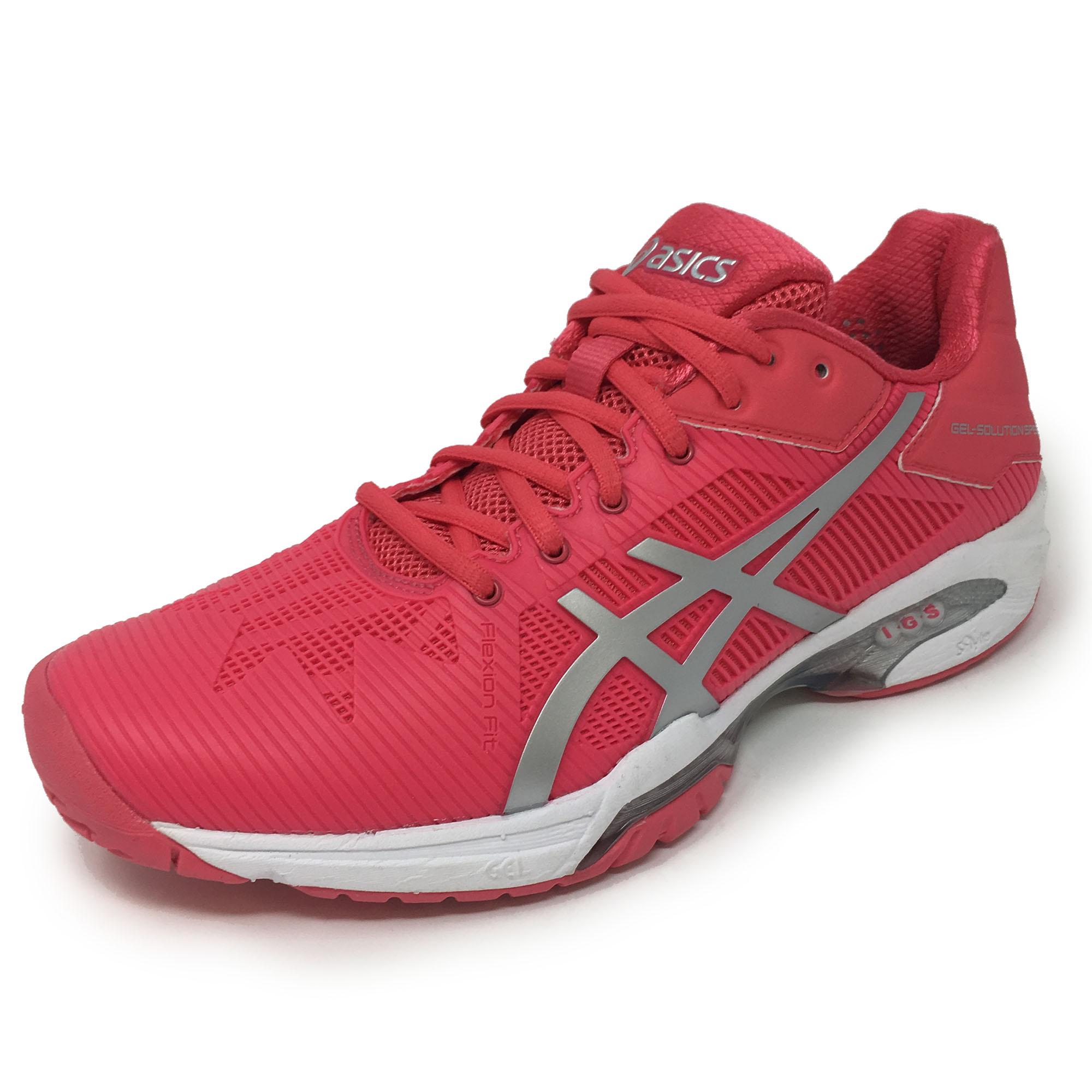 Asics GelSolution Speed 3 Ladies Tennis Shoes  Pink 4.5 UK