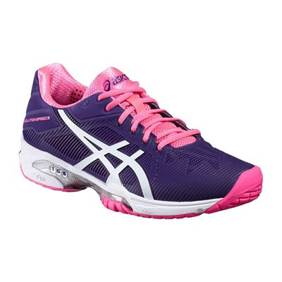 Asics Gel-Solution Speed 3 Ladies Tennis Shoes-Angled