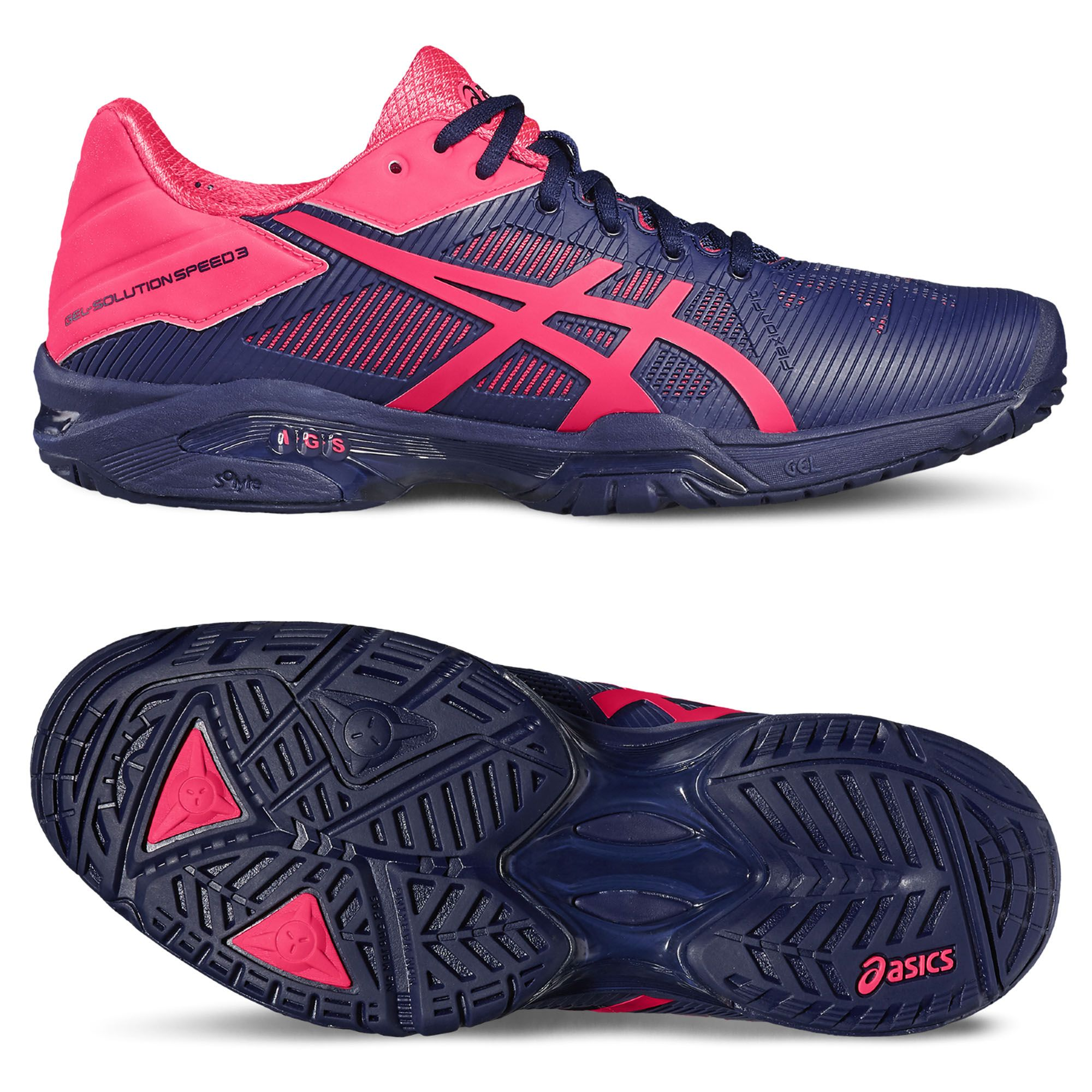 asics gel solution speed 3 tennis shoes ss17