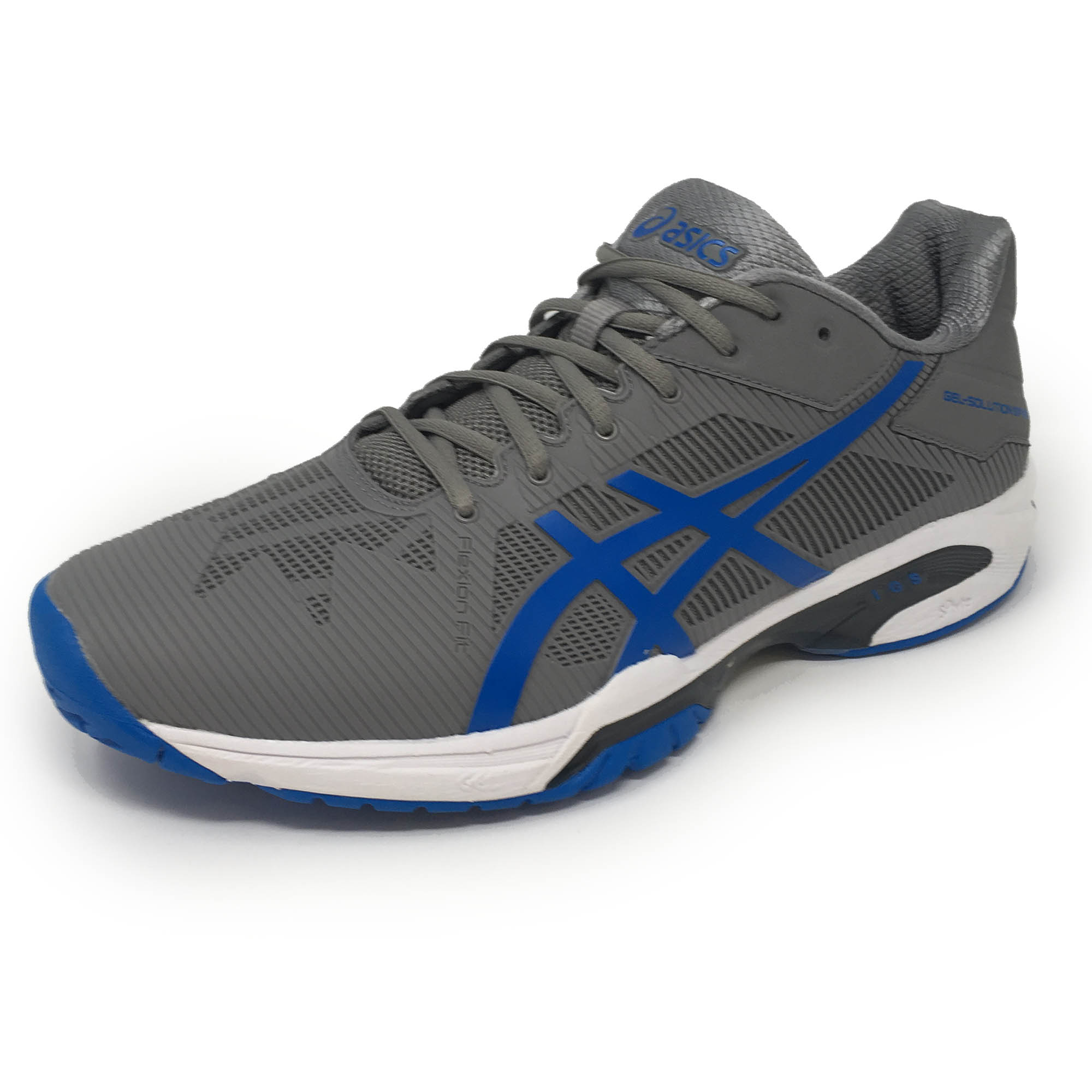 Asics GelSolution Speed 3 Mens Tennis Shoes  GreyBlue 10.5 UK