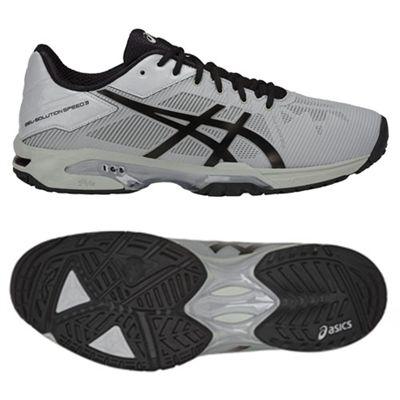 Asics Gel-Solution Speed 3 Mens Tennis Shoes SS18 - Grey