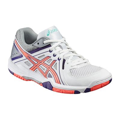Asics Gel-Task Ladies Court Shoes-Angled