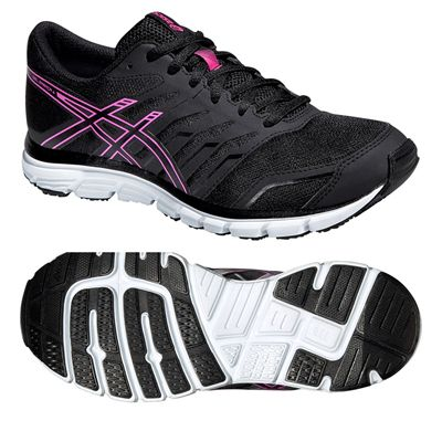 Asics Gel-Zaraca 4 Ladies Running Shoes-Black-Grey-Pink
