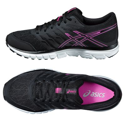 Asics Gel-Zaraca 4 Ladies Running Shoes-Black-Grey-Pink Alternative View