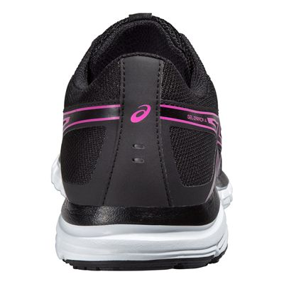 Asics Gel-Zaraca 4 Ladies Running Shoes-Black-Grey-Pink Back View